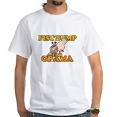 Fist Bump for Obama White T-Shirt