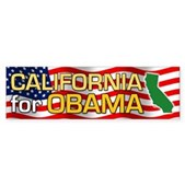 California for Obama Bumper Sticker