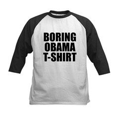 Boring Obama T-Shirt Kids Baseball Jersey