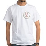 3 Year Breast Cancer Survivor White T-Shirt