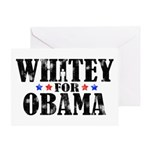 Whitey For Obama Greeting Card