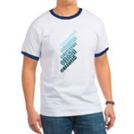 This repeated design in cool shades of blue shows the name Obama stacked in diagonal lines. This pro-Obama design ranges from light blue to navy. Support Barack Obama for President in cool blue style!