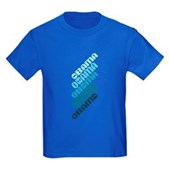 Stacked Obama Blue Kids Dark T-Shirt