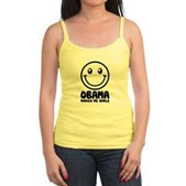 Obama Makes Me Smile Jr. Spaghetti Tank