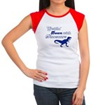 Gettin' Down With Dinosaurs Women's Cap Sleeve T-S