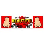 Canada Severed Foot Sticker (Bumper)