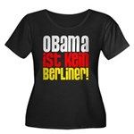 Obama Ist Kein Berliner! Women's Plus Size Scoop Neck Dark T-Shirt