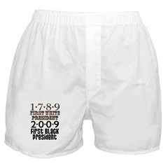 US Firsts: 1789-2009 Boxer Shorts