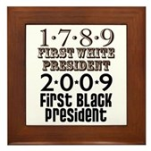Presidential Firsts: 1789-2009 Framed Tile