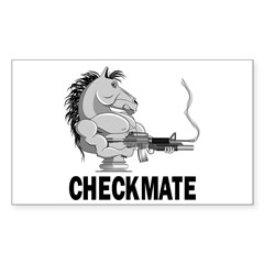 Checkmate Sticker (Rectangle)