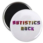 Autistics Rock Magnet