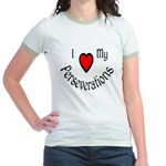 I Heart My Perseverations Jr. Ringer T-Shirt