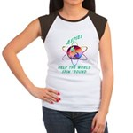 Aspies Spin the World Women's Cap Sleeve T-Shirt