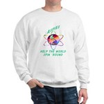 Aspies Spin the World Sweatshirt