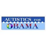 Autistics for Obama Sticker (Bumper)