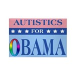 Autistics for Obama Rectangle Magnet (100 pack)