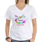 My Autistic Mind Women's V-Neck T-Shirt