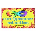 Cure Ignorance Sticker (Rectangle 10 pk)