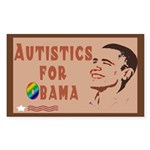 Autistics for Obama Sticker (Rectangle 10 pk)