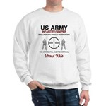Infantry Sniper Crosshairs Wife Sweatshirt