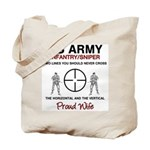 Infantry Sniper Crosshairs Wife Tote Bag