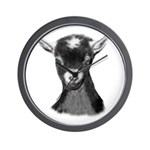 Pygora Goat Portrait Wall Clock