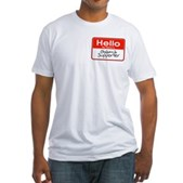 Obama Supporter Name Tag Fitted T-Shirt