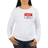 Obama Supporter Name Tag Women's Long Sleeve T-Shi