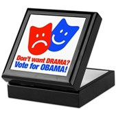 Vote Obama: No Drama! Keepsake Box