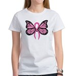 Breast Cancer Butterfly Women's T-Shirt