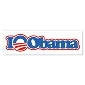 I Love Obama Bumper Sticker