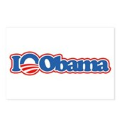 I Love Obama Postcards (Package of 8)