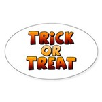 Trick or Treat Sticker (Oval)