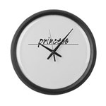 Minimal Princess Costume Large Wall Clock