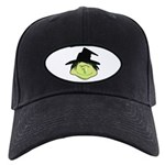 Happy Green Witch Black Cap