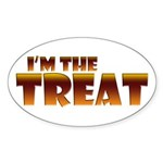 Glowing I'm the Treat Oval Sticker (Oval)