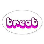 Retro Treat Oval Sticker (50 pk)