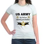 My Kids are .. US Army Jr. Ringer T-Shirt
