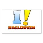 I ! Halloween Rectangle Sticker 10 pk)