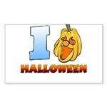 I Love Halloween Rectangle Sticker 10 pk)