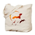 Flying Vampire Bats Tote Bag