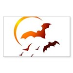 Flying Vampire Bats Rectangle Sticker 50 pk)