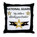 National Guard Soldier Freedo Throw Pillow