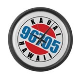 Kauai Hawaii 96705 Large Wall Clock