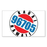 Kauai Hawaii 96705 Rectangle Sticker