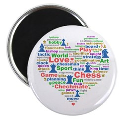 Heart Of Chess Magnet