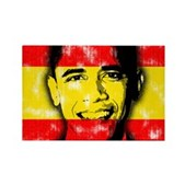 America loves Barack Obama. The world loves Barack Obama. And Spain loves Barack Obama! Obama's face is superimposed over the Spanish flag. Spaniards for Obama will love this Spain Obama design.