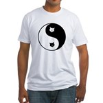 yin yang meow Fitted T-Shirt