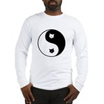 yin yang meow Long Sleeve T-Shirt