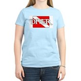 Pirate-style Diver Flag Women's Light T-Shirt